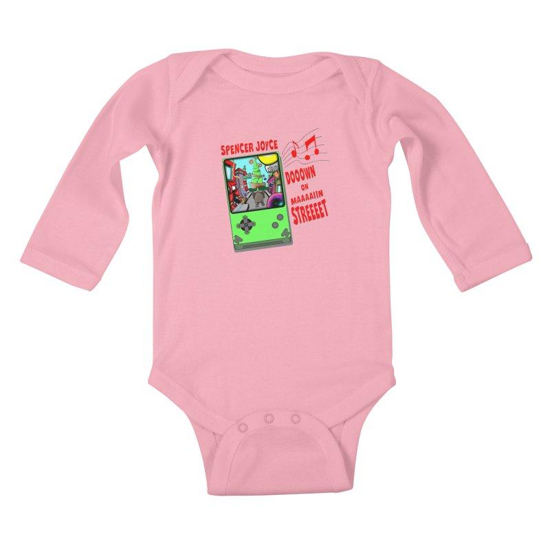 Down on Main Street Kids Baby Longsleeve Bodysuit by MD Design Labs's Artist Shop