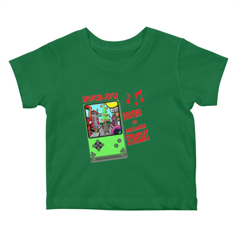 Down on Main Street Kids Baby T-Shirt by MD Design Labs's Artist Shop