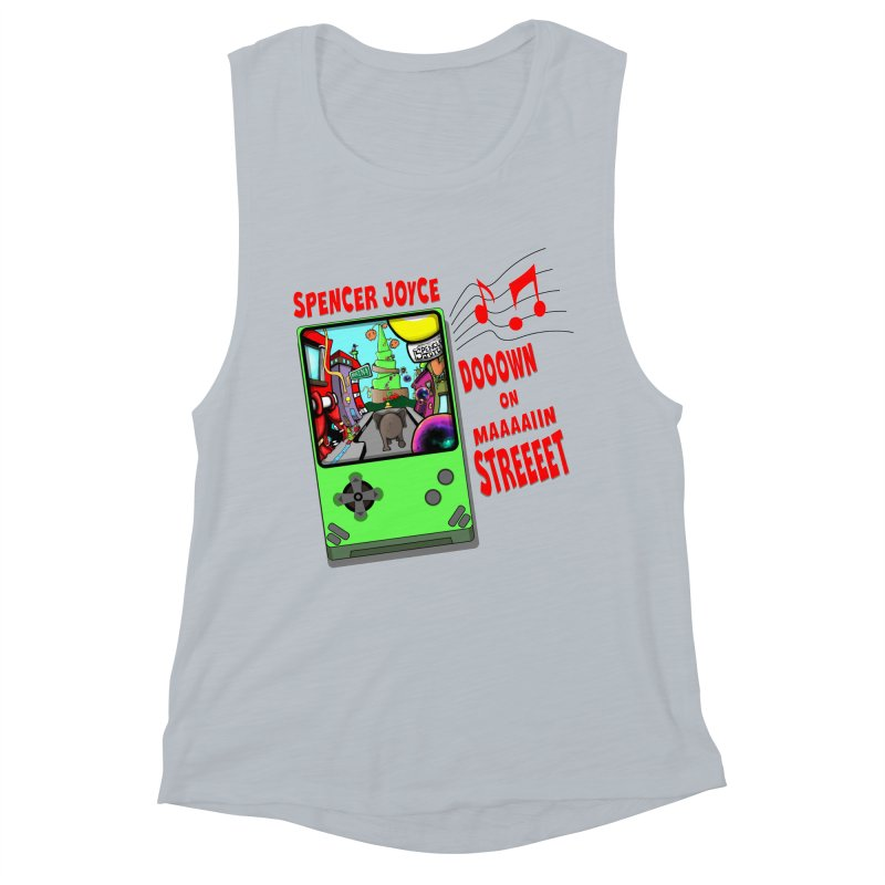 Down on Main Street Women's Muscle Tank by MD Design Labs's Artist Shop