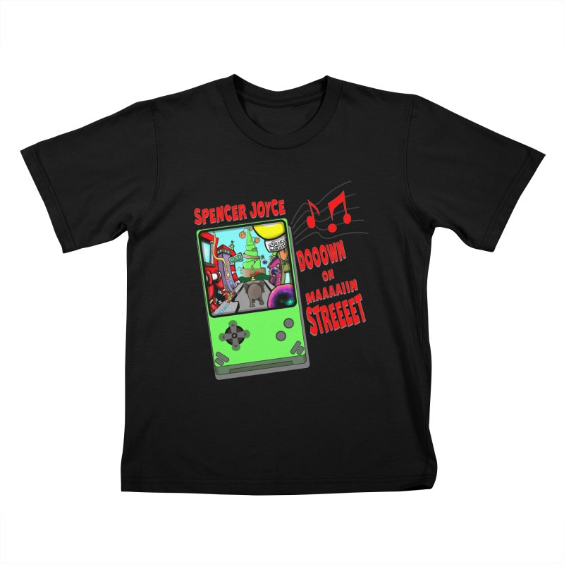 Down on Main Street Kids T-Shirt by MD Design Labs's Artist Shop