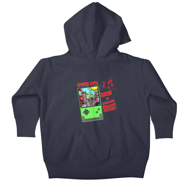 Down on Main Street Kids Baby Zip-Up Hoody by MD Design Labs's Artist Shop