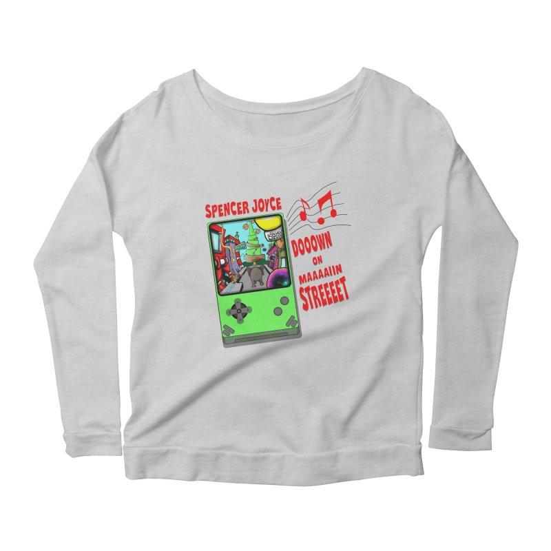 Down on Main Street Women's Scoop Neck Longsleeve T-Shirt by MD Design Labs's Artist Shop