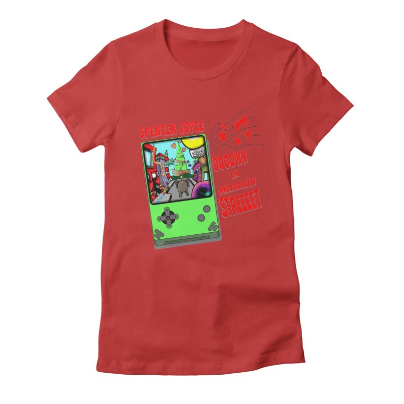 Down on Main Street Women's Fitted T-Shirt by MD Design Labs's Artist Shop