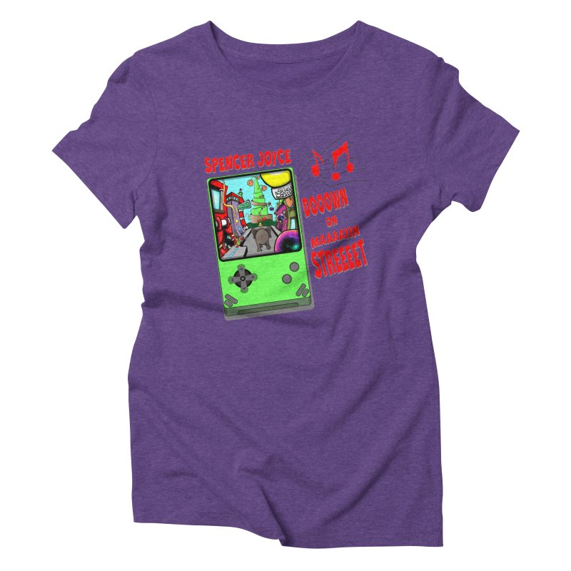Down on Main Street Women's Triblend T-Shirt by MD Design Labs's Artist Shop