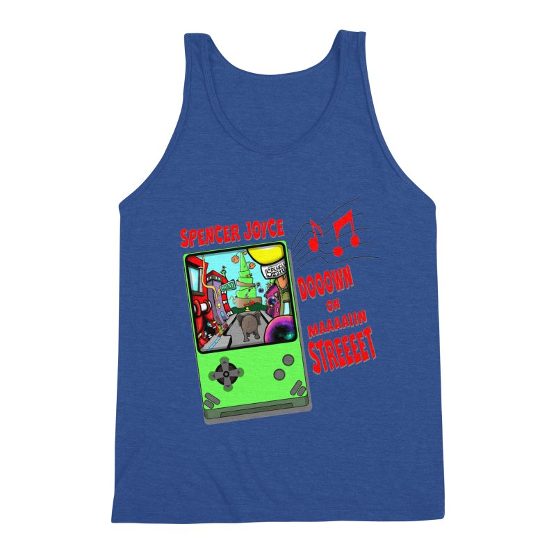 Down on Main Street Men's Triblend Tank by MD Design Labs's Artist Shop