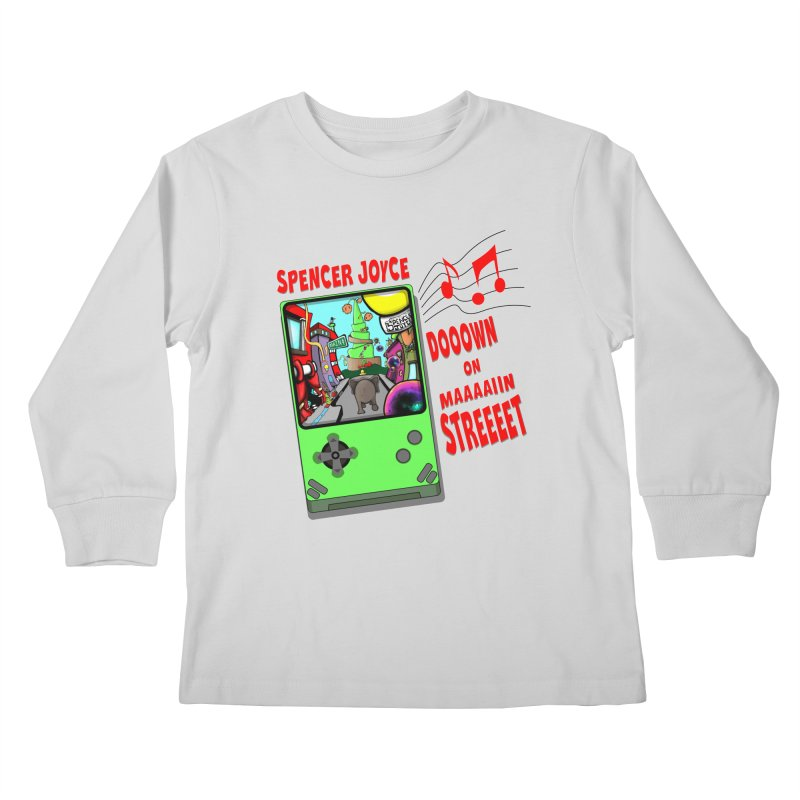 Down on Main Street Kids Longsleeve T-Shirt by MD Design Labs's Artist Shop