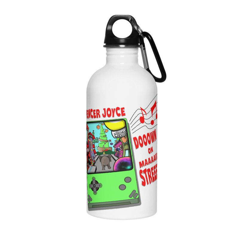 Down on Main Street Accessories Water Bottle by MD Design Labs's Artist Shop