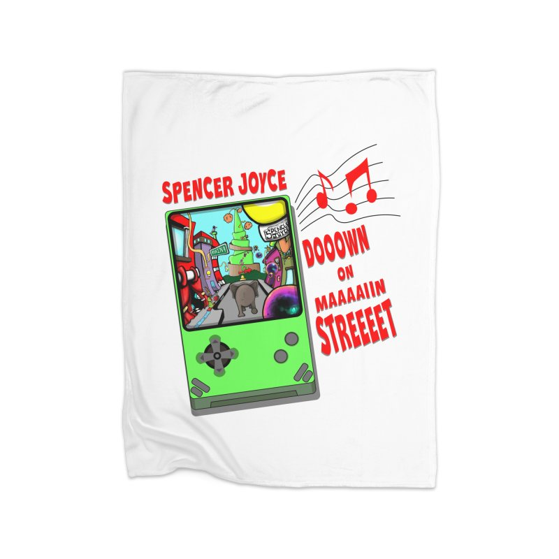 Down on Main Street Home Fleece Blanket Blanket by MD Design Labs's Artist Shop