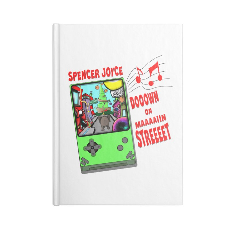 Down on Main Street Accessories Lined Journal Notebook by MD Design Labs's Artist Shop