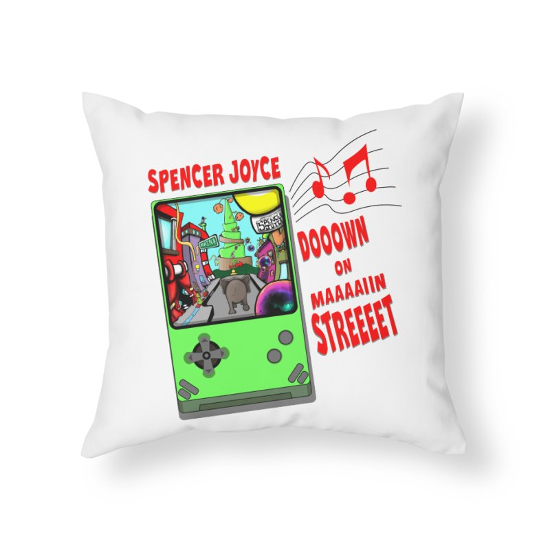 Down on Main Street Home Throw Pillow by MD Design Labs's Artist Shop