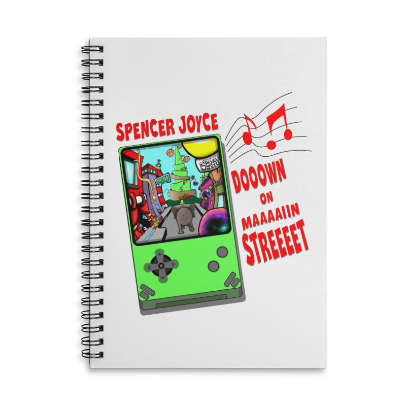Down on Main Street Accessories Lined Spiral Notebook by MD Design Labs's Artist Shop