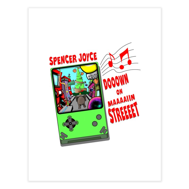 Down on Main Street Home Fine Art Print by MD Design Labs's Artist Shop