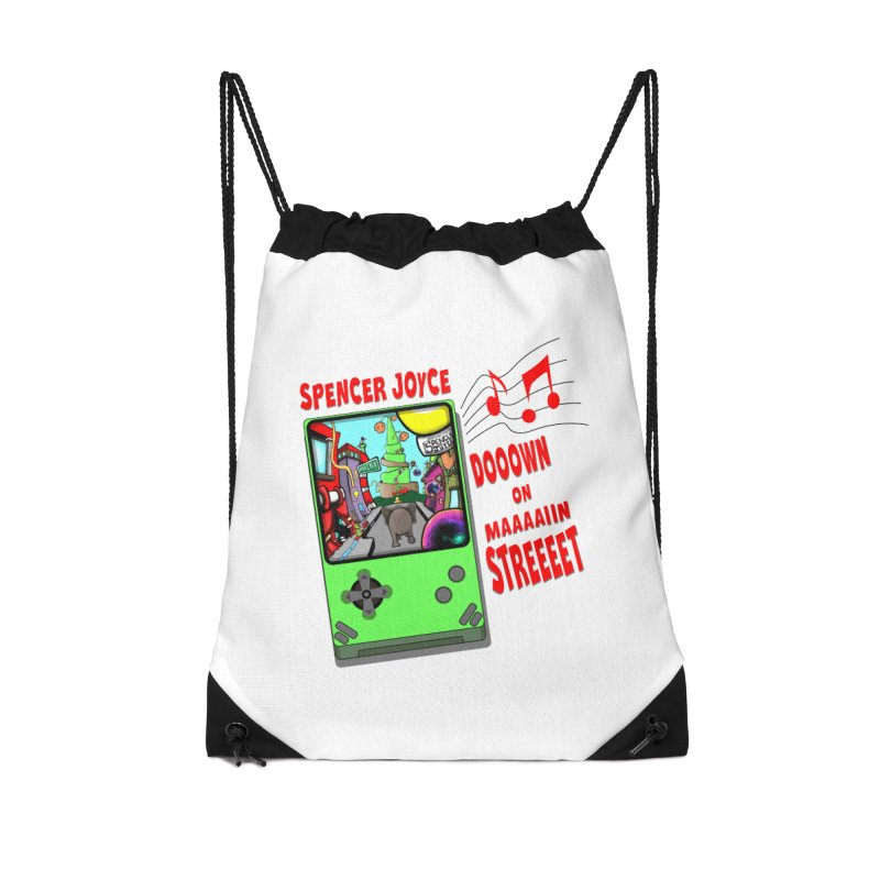 Down on Main Street Accessories Drawstring Bag Bag by MD Design Labs's Artist Shop
