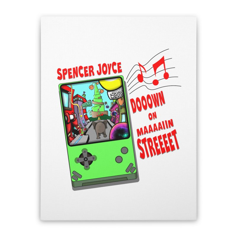 Down on Main Street Home Stretched Canvas by MD Design Labs's Artist Shop