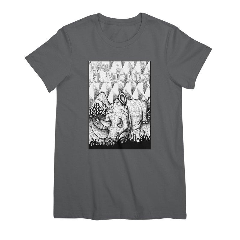 Kinga Rhinoceros Women's Premium T-Shirt by MD Design Labs's Artist Shop