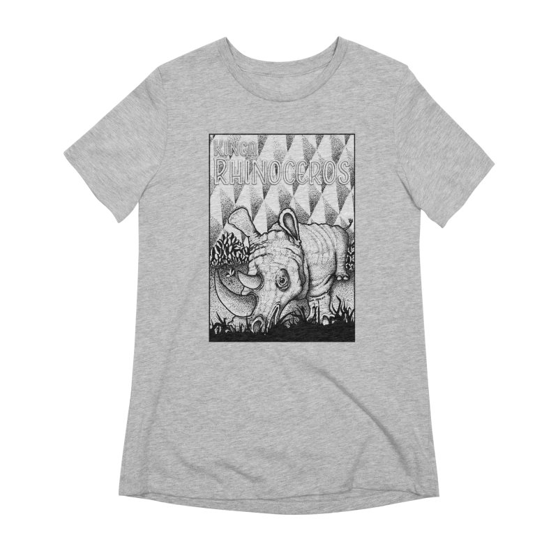Kinga Rhinoceros Women's Extra Soft T-Shirt by MD Design Labs's Artist Shop