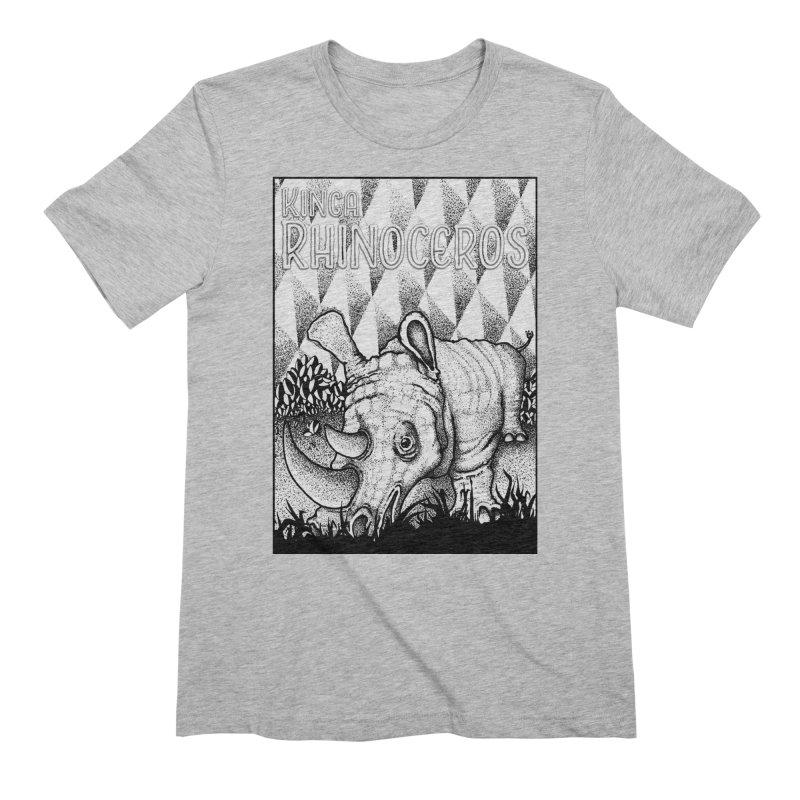 Kinga Rhinoceros Men's Extra Soft T-Shirt by MD Design Labs's Artist Shop