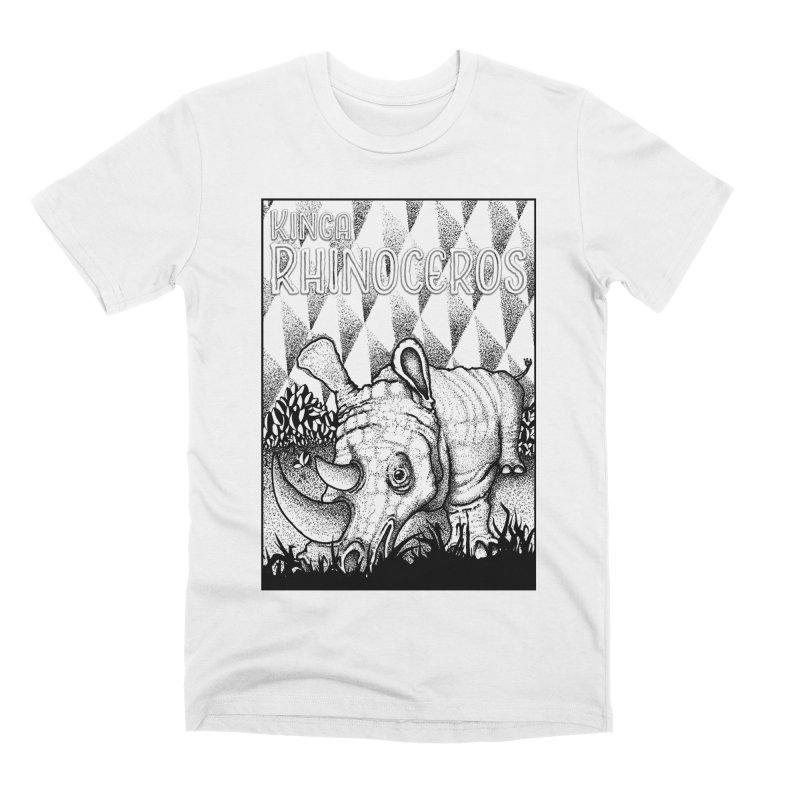 Kinga Rhinoceros Men's Premium T-Shirt by MD Design Labs's Artist Shop