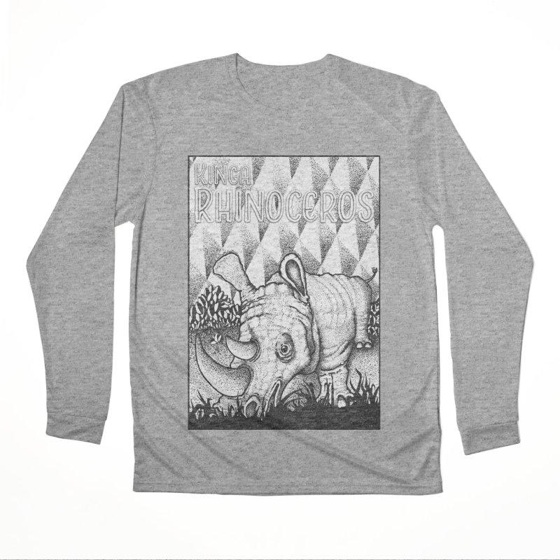 Kinga Rhinoceros Men's Performance Longsleeve T-Shirt by MD Design Labs's Artist Shop