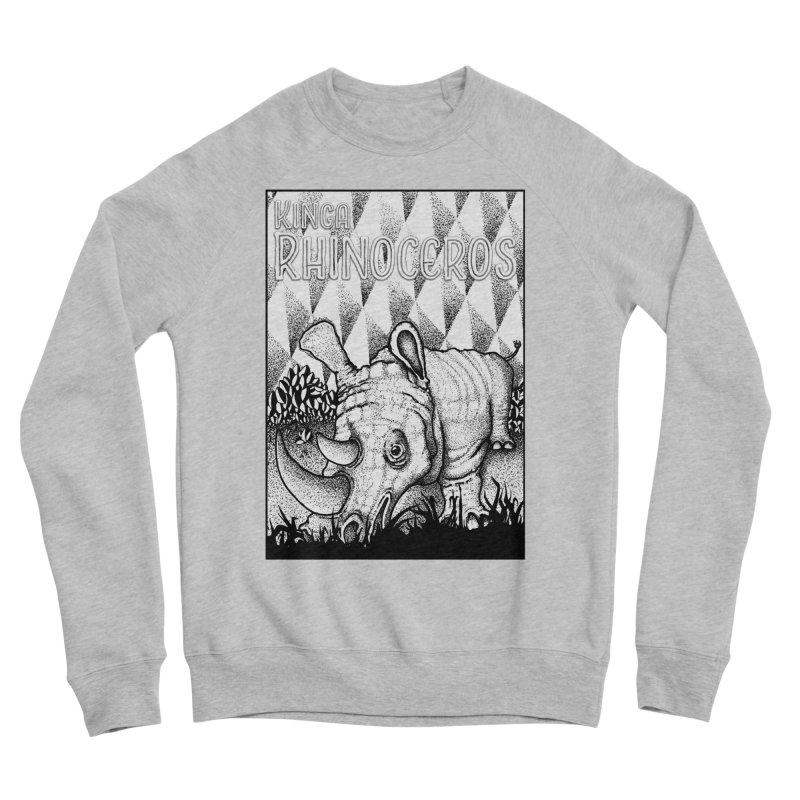 Kinga Rhinoceros Women's Sponge Fleece Sweatshirt by MD Design Labs's Artist Shop