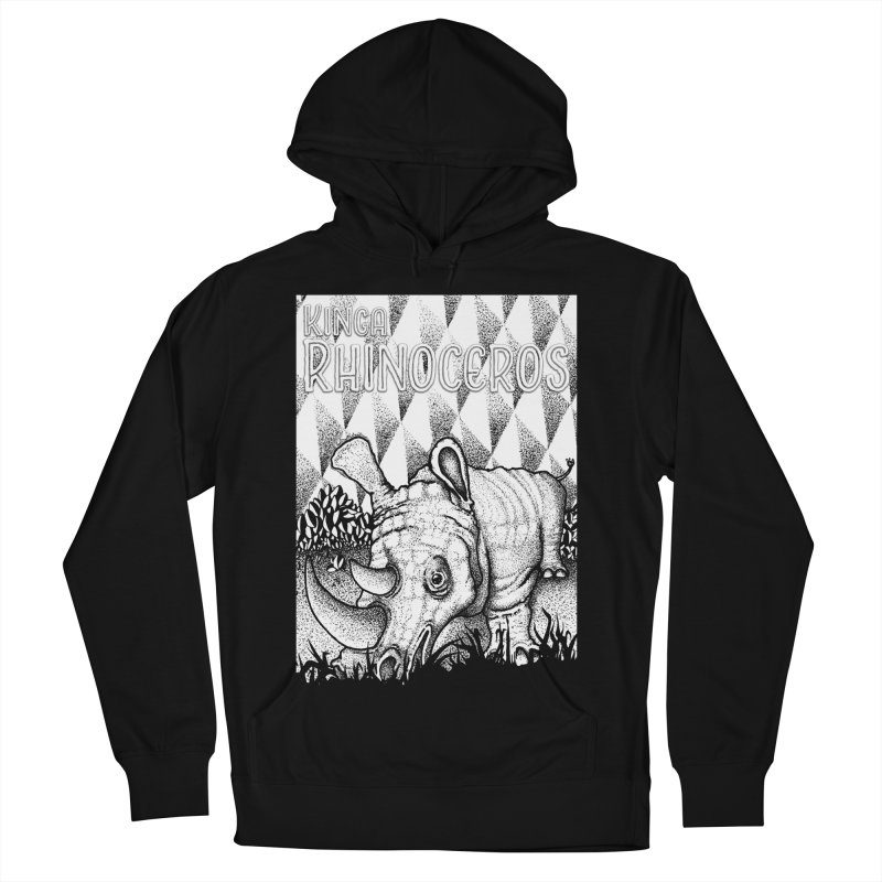 Kinga Rhinoceros Men's French Terry Pullover Hoody by MD Design Labs's Artist Shop