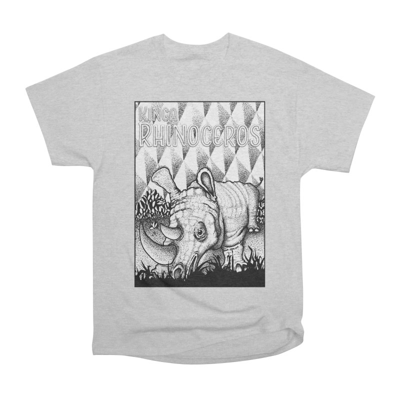 Kinga Rhinoceros Men's Heavyweight T-Shirt by MD Design Labs's Artist Shop