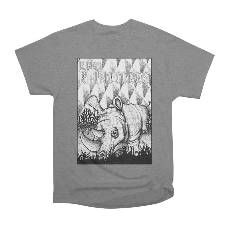 Kinga Rhinoceros Men's Heavyweight T-Shirt by MD Design Labs's Artist Shop