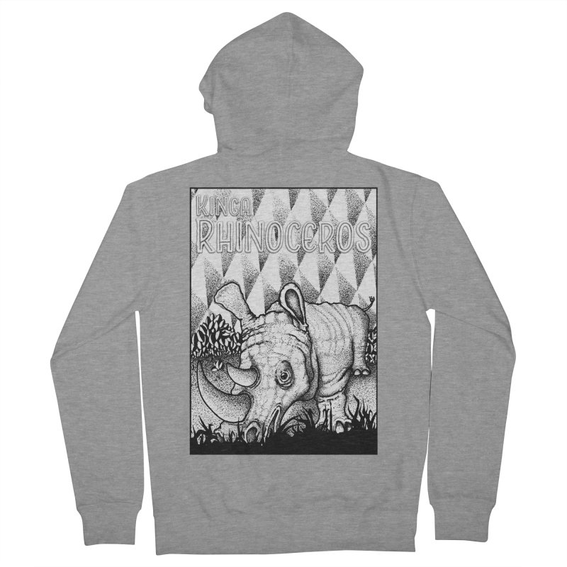 Kinga Rhinoceros Women's French Terry Zip-Up Hoody by MD Design Labs's Artist Shop