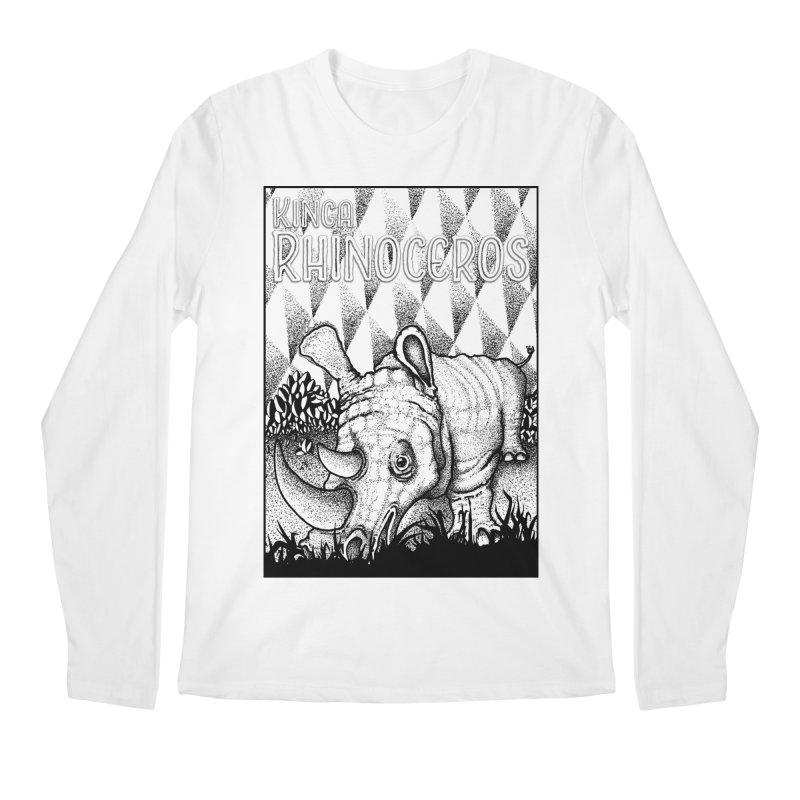 Kinga Rhinoceros Men's Regular Longsleeve T-Shirt by MD Design Labs's Artist Shop