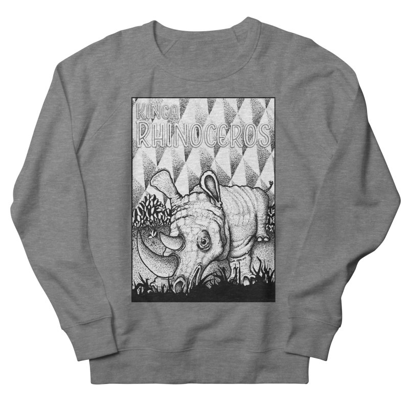 Kinga Rhinoceros Women's French Terry Sweatshirt by MD Design Labs's Artist Shop