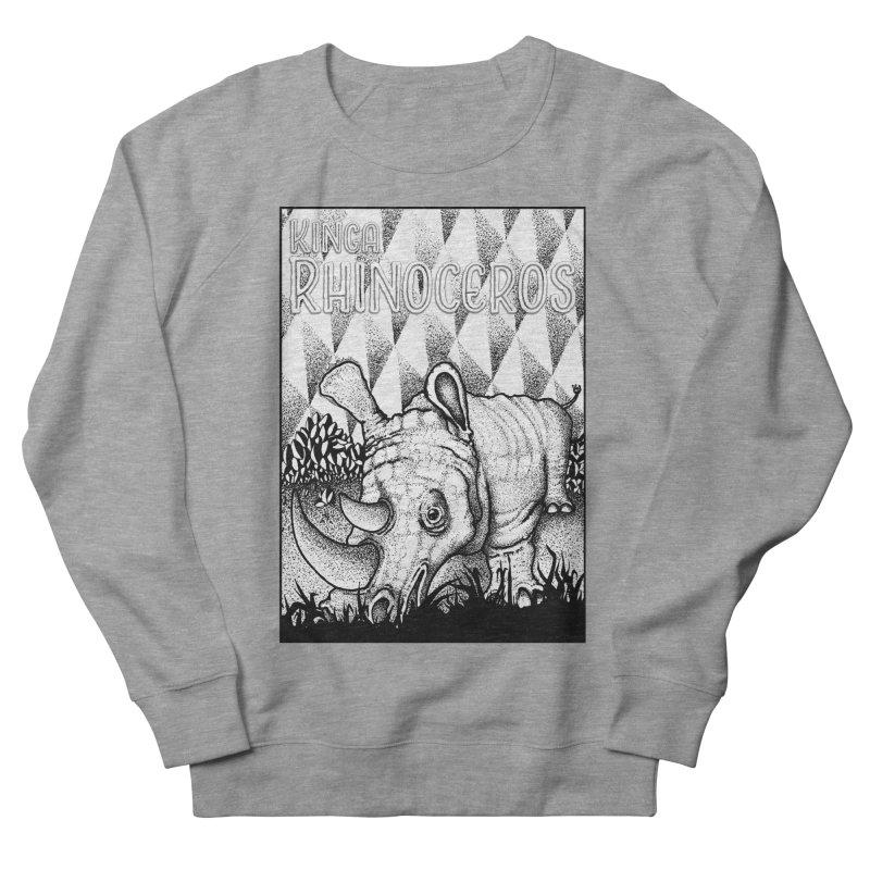 Kinga Rhinoceros Men's French Terry Sweatshirt by MD Design Labs's Artist Shop