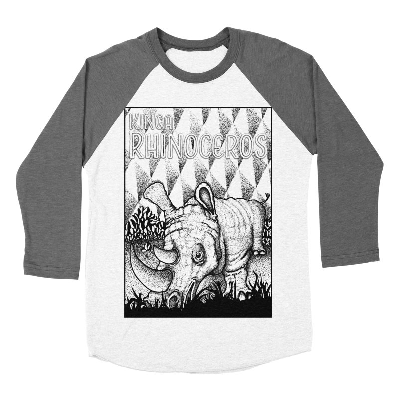 Kinga Rhinoceros Women's Baseball Triblend Longsleeve T-Shirt by MD Design Labs's Artist Shop