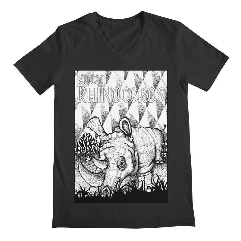 Kinga Rhinoceros Men's Regular V-Neck by MD Design Labs's Artist Shop