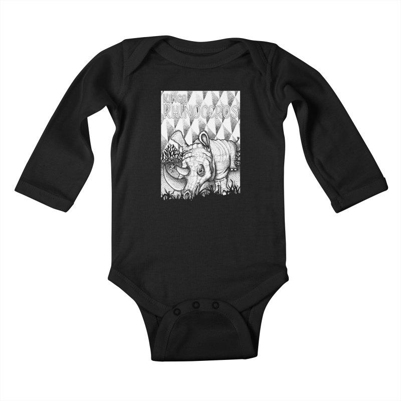 Kinga Rhinoceros Kids Baby Longsleeve Bodysuit by MD Design Labs's Artist Shop