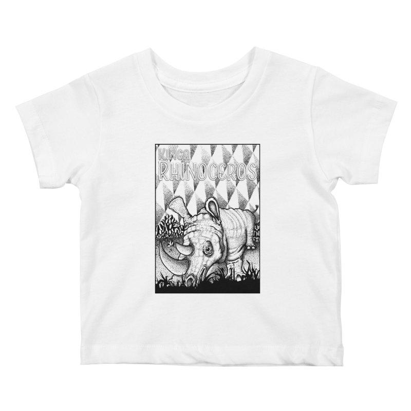Kinga Rhinoceros Kids Baby T-Shirt by MD Design Labs's Artist Shop