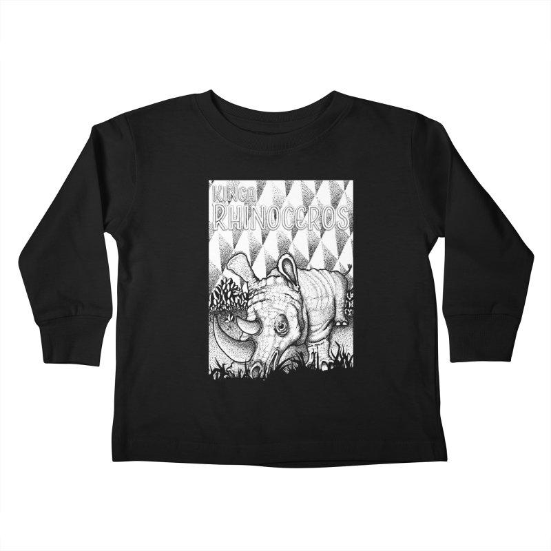 Kinga Rhinoceros Kids Toddler Longsleeve T-Shirt by MD Design Labs's Artist Shop