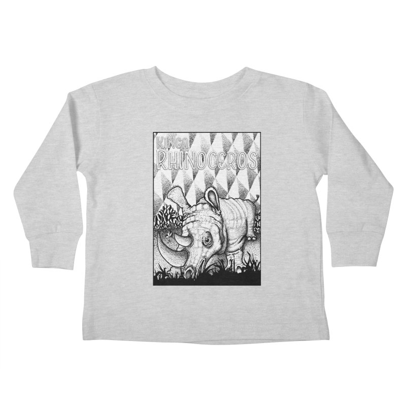 Kinga Rhinoceros Kids Toddler Longsleeve T-Shirt by MD Design Labs's Artist Shop