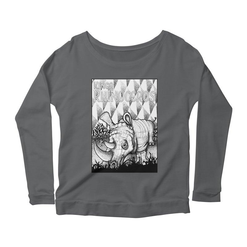 Kinga Rhinoceros Women's Scoop Neck Longsleeve T-Shirt by MD Design Labs's Artist Shop
