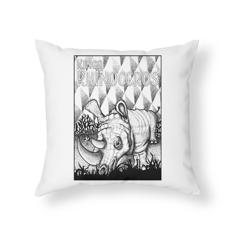 Kinga Rhinoceros Home Throw Pillow by MD Design Labs's Artist Shop