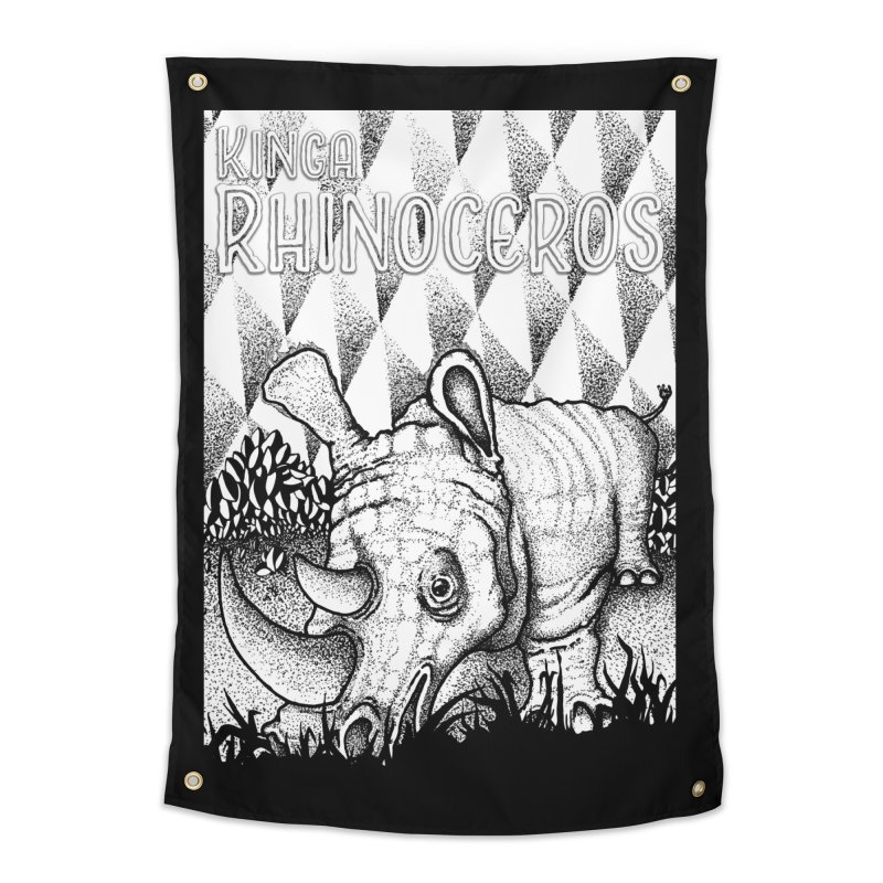 Kinga Rhinoceros Home Tapestry by MD Design Labs's Artist Shop