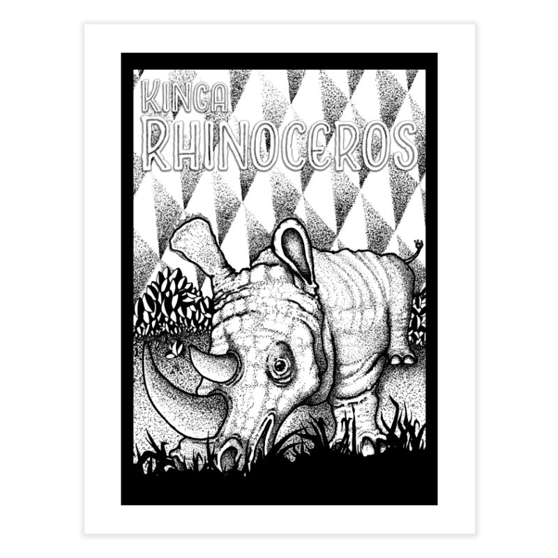 Kinga Rhinoceros Home Fine Art Print by MD Design Labs's Artist Shop