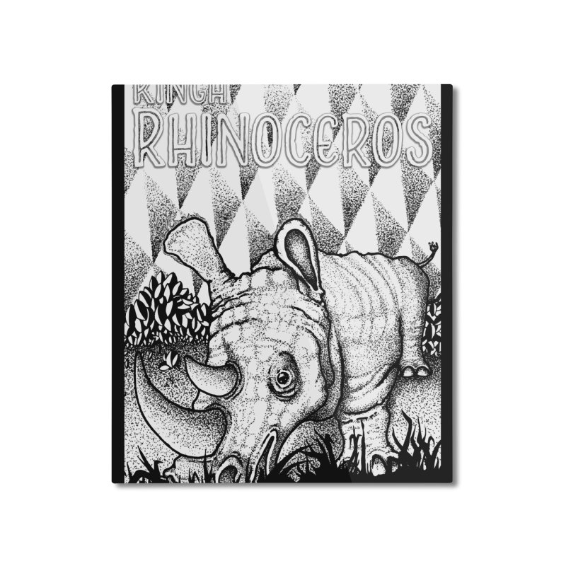 Kinga Rhinoceros Home Mounted Aluminum Print by MD Design Labs's Artist Shop