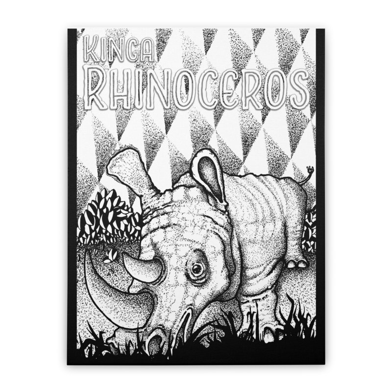 Kinga Rhinoceros Home Stretched Canvas by MD Design Labs's Artist Shop