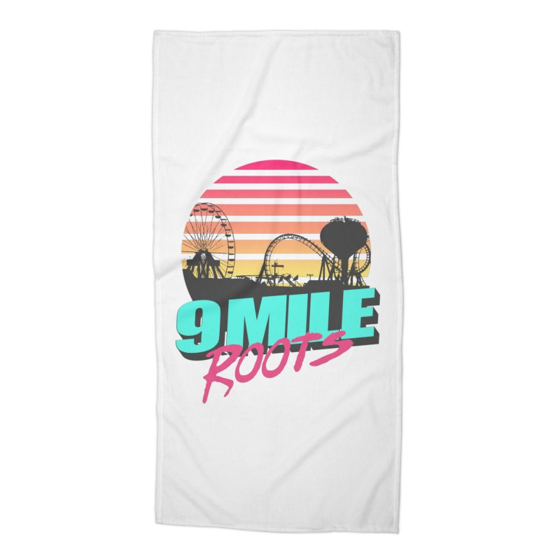 9 Mile Roots Ocean City Accessories Beach Towel by MD Design Labs's Artist Shop