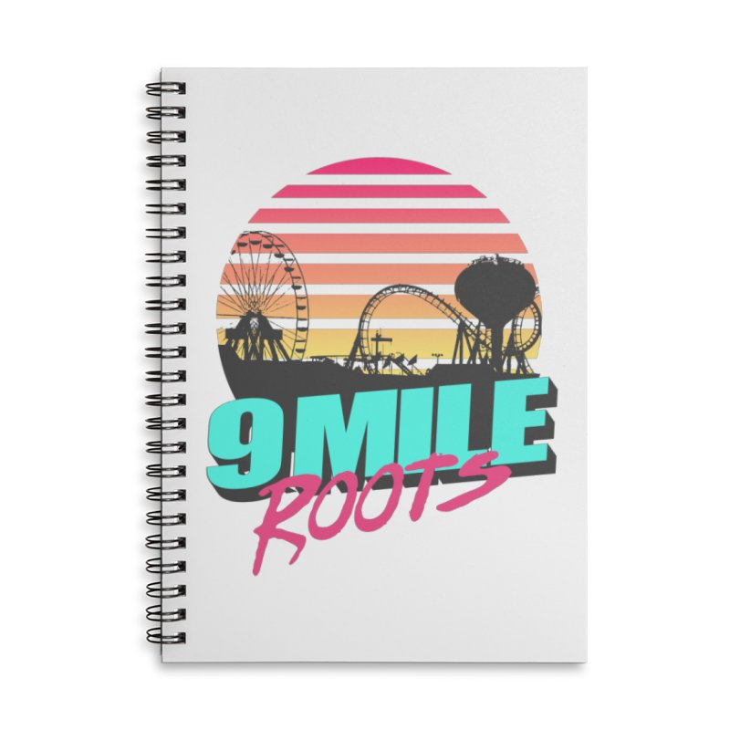 9 Mile Roots Ocean City Accessories Lined Spiral Notebook by MD Design Labs's Artist Shop