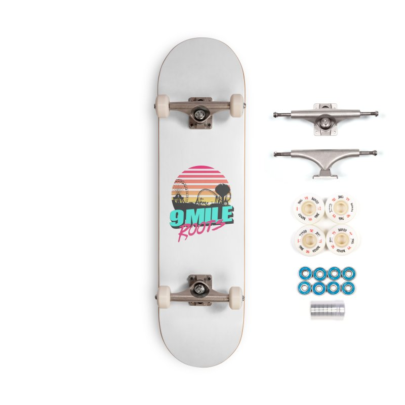 9 Mile Roots Ocean City Accessories Complete - Premium Skateboard by MD Design Labs's Artist Shop
