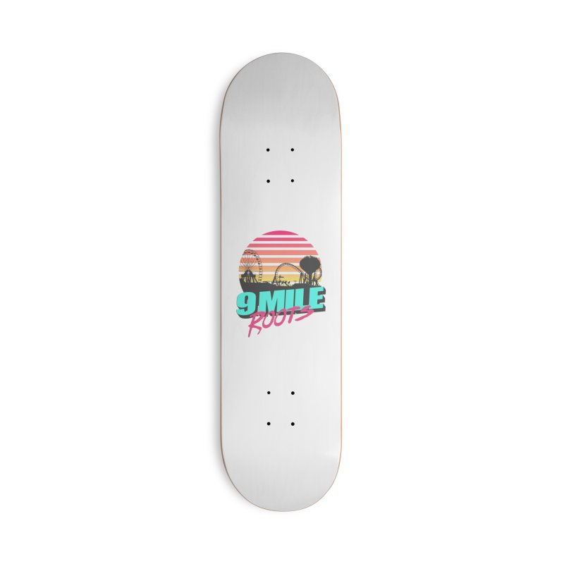 9 Mile Roots Ocean City Accessories Deck Only Skateboard by MD Design Labs's Artist Shop