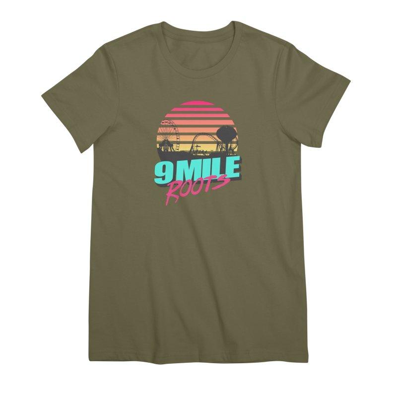 9 Mile Roots Ocean City Women's Premium T-Shirt by MD Design Labs's Artist Shop