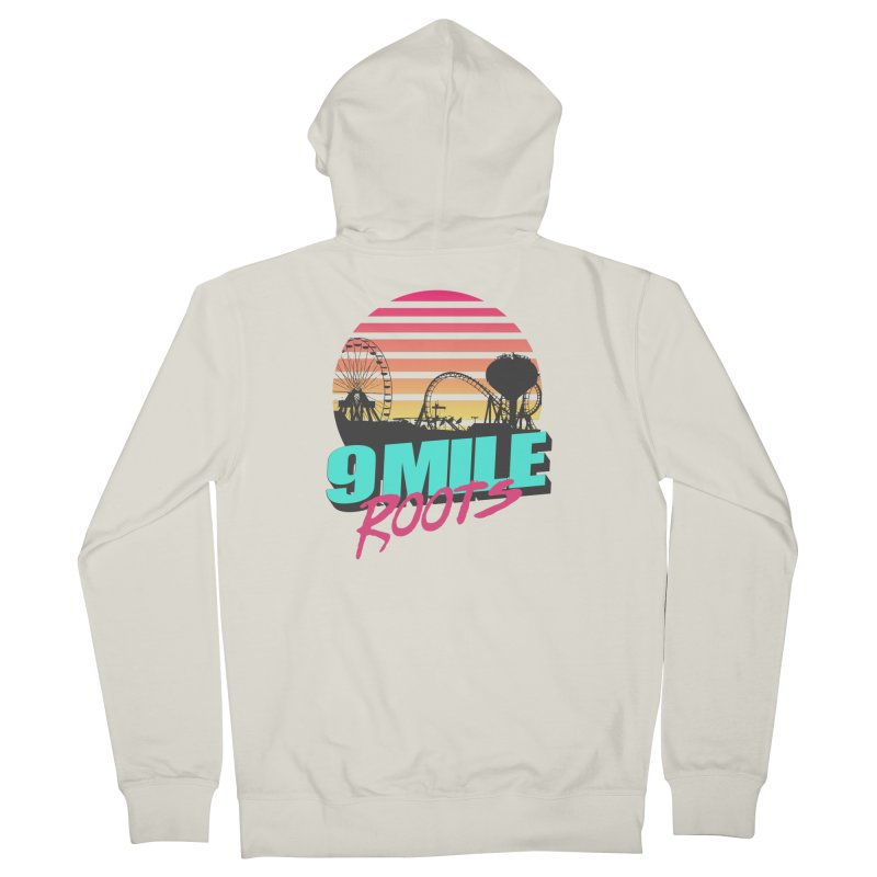 9 Mile Roots Ocean City Men's French Terry Zip-Up Hoody by MD Design Labs's Artist Shop