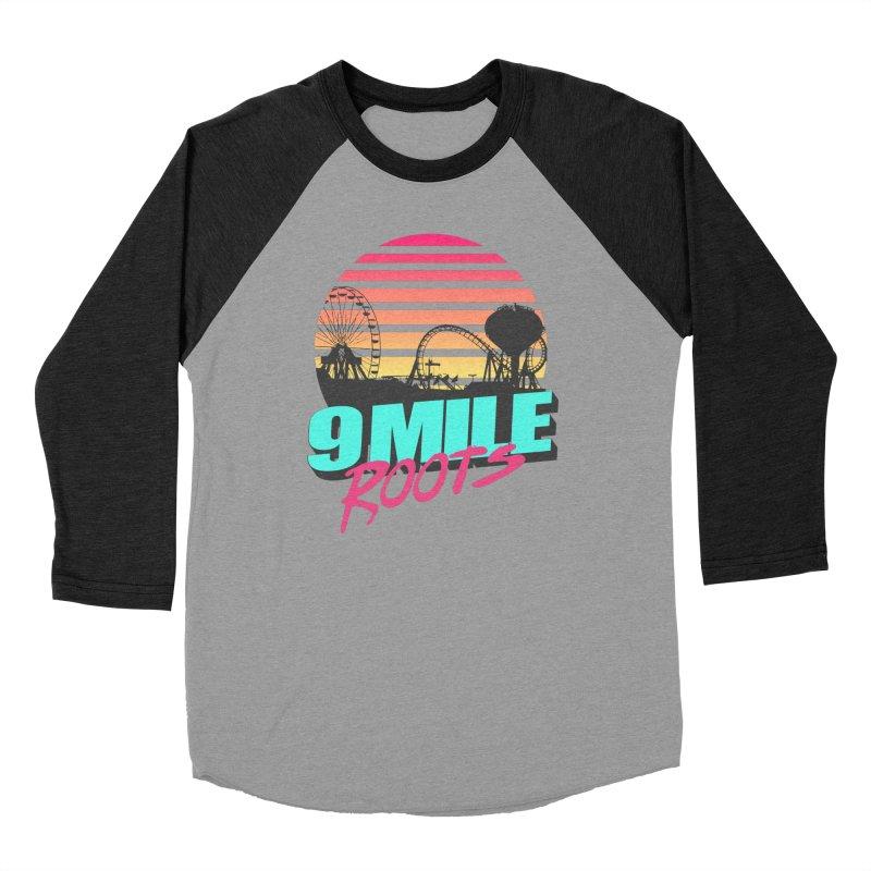 9 Mile Roots Ocean City Men's Baseball Triblend Longsleeve T-Shirt by MD Design Labs's Artist Shop